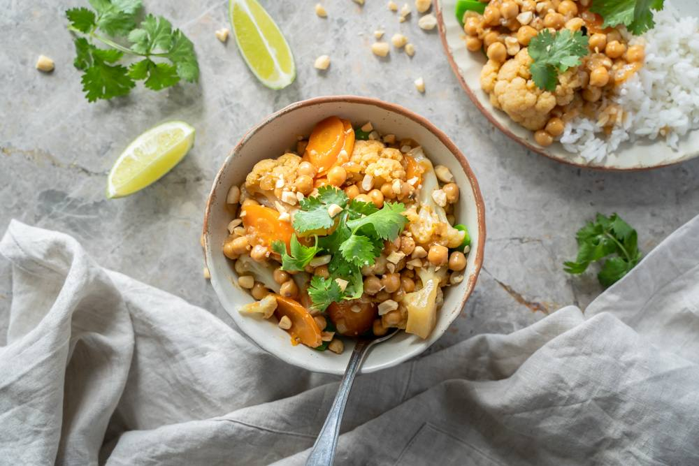 recipe image Thai Cauliflower and Chickpea Curry