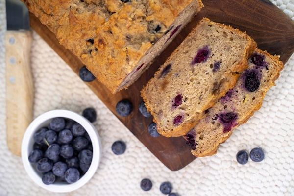 recipe image Banana and Blueberry Loaf