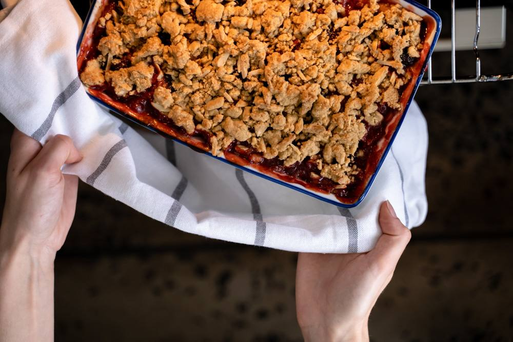 recipe image Gluten-Free Apple and Rhubarb Crumble